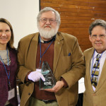 PSCC President Emy Brawley; Randy Heidorn, Illinois Nature Preserves Commission; and John Sentell, Lake Forest Open Lands